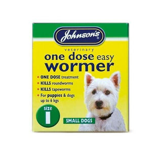 Johnsons One Dose Easy Wormer-Oh Doggy