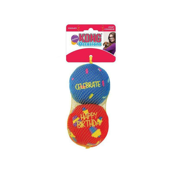 KONG Occasions Birthday Balls 2-pack-Oh Doggy