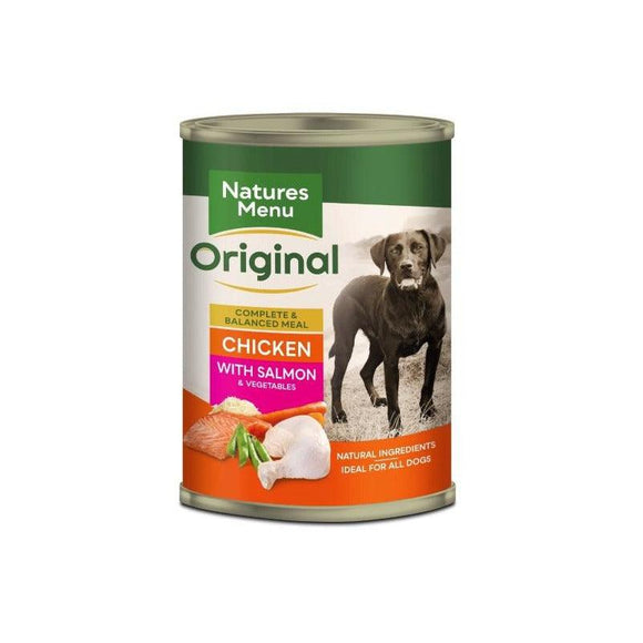 Natures Menu Adult Dog Chicken with Salmon Can 400g