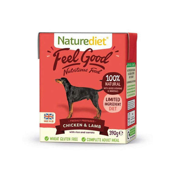 Naturediet Feel Good Dog Food - Chicken & Lamb - Oh Doggy