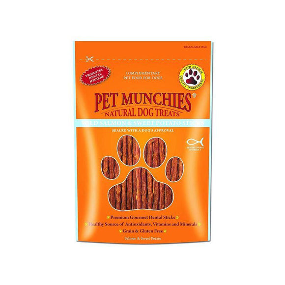 Pet Munchies Wild Salmon & Sweet Potato 90g-Oh Doggy