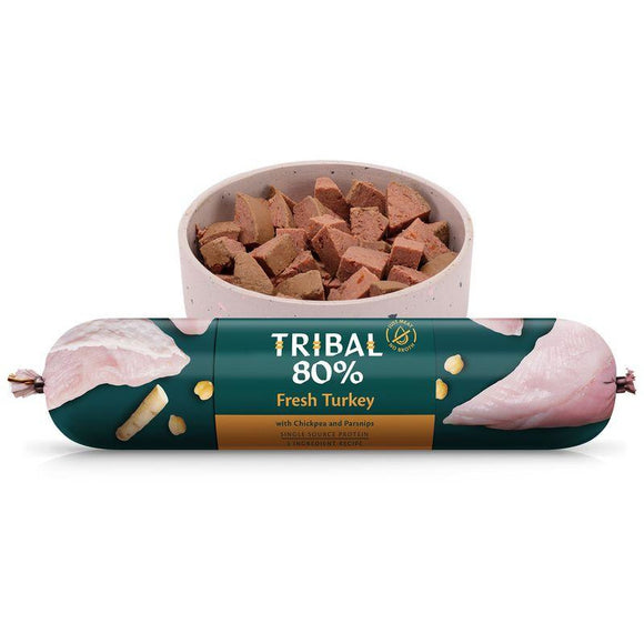 Tribal 80% Turkey Gourmet Sausage 750g-Oh Doggy