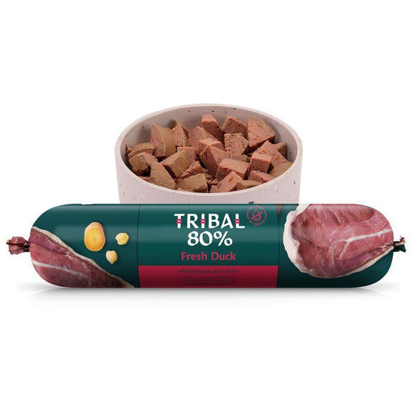 Tribal 80% Duck Gourmet Sausage 750g-Oh Doggy