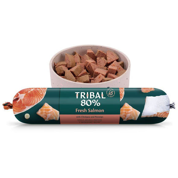 Tribal 80% Salmon Gourmet Sausage 750g-Oh Doggy