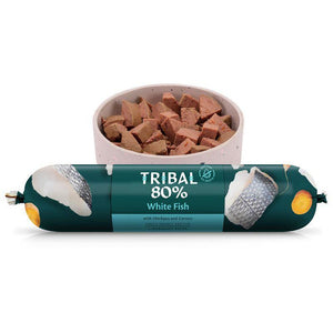 Tribal 80% White Fish Gourmet Sausage 750g-Oh Doggy
