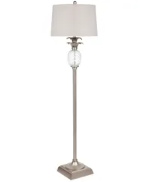 Langley Floor Lamp Antique Silver