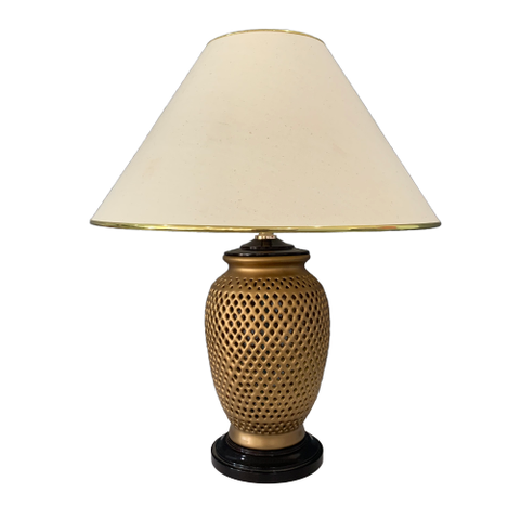 Gold cutwork  lamp with Shade