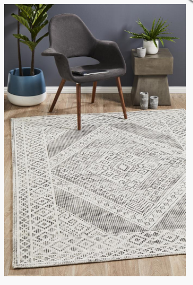 Castle830 Black White Rug