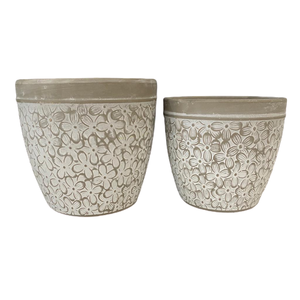 Flower Scroll Pot LGE
