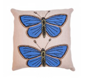 Beaded Butterfly Cushion