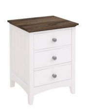 Brittany Three Drawer Bedside Table