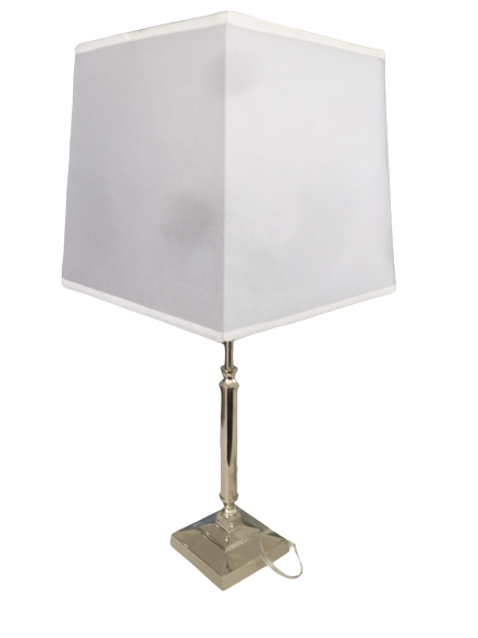 Chrome and Brass Lamp with Shade