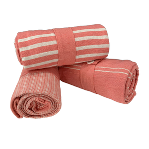 Cotton Pink/Orange Throw