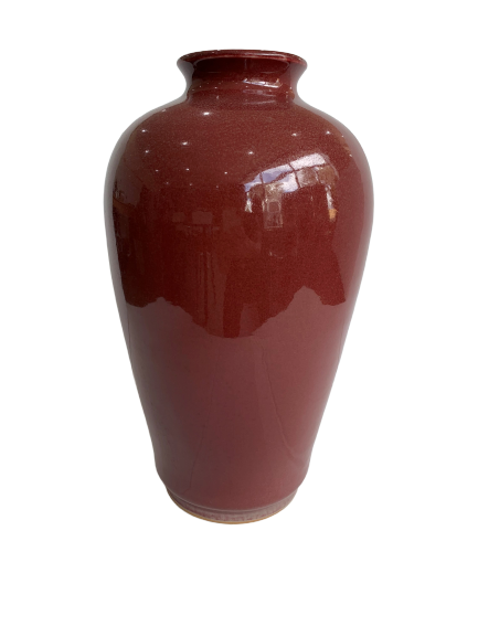 Medium maroon ceramic vase