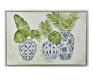 Chinese Vase - Greenery Canvas