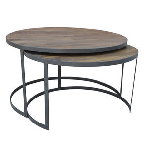 French Grey Nested Coffee Tables