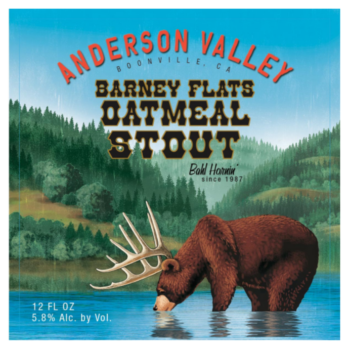 Anderson Valley Barney Flats Oatmeal Stout, 640ml Bomber