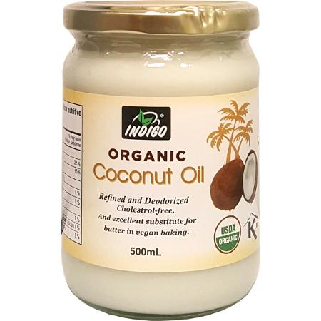 Coconut Oil Organic Refined, 500ml