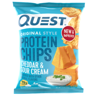 Cheddar & Sour Cream Protein Tortilla Chips, 32g