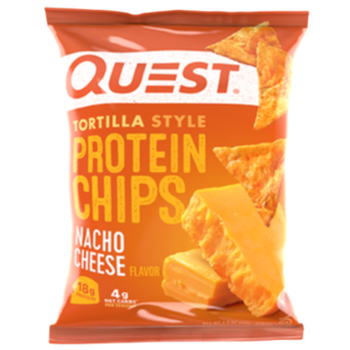 Nacho Cheese Protein Tortilla Chips, 32g