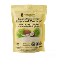 Organic Unsweetened Shredded Coconut, 250g
