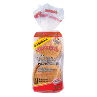Flax Oat Bran & Wheat Pita Bread, 8 Loaves (227g) (4711798767748)