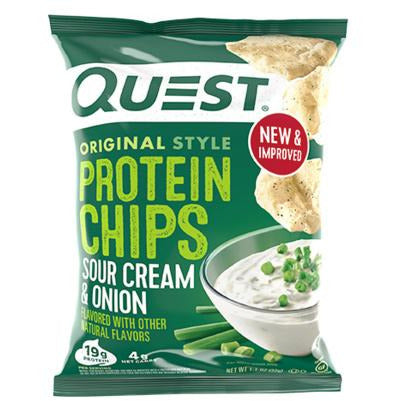 Sour Cream & Onion Protein Tortilla Chips, 32g