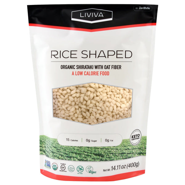 Organic Shirataki Rice Shaped with Oat Fibre, 400g (4711793524868)