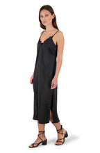Load image into Gallery viewer, BB Dakota Sunset Slip Black Midi Dress