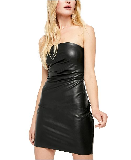 Free People Vegan Leather Mini Dress