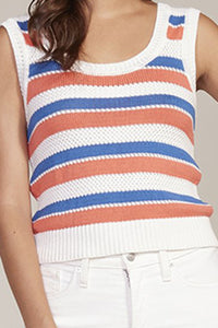 BB Dakota Striped Knit Sleeveless Top