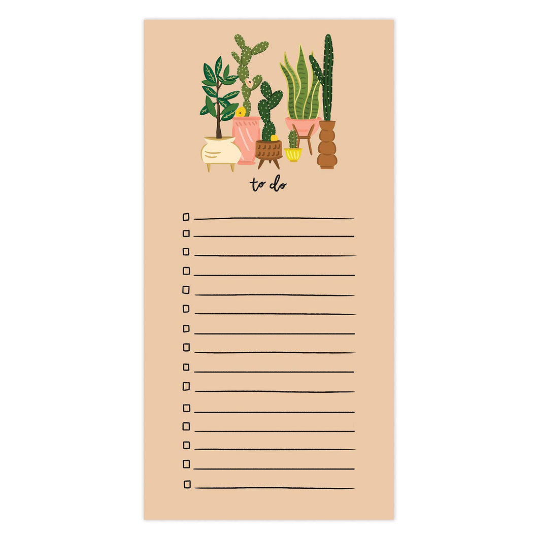 Bloomwolf Studio Tall Plants To Do Notepad