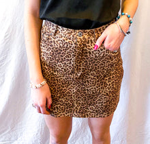Load image into Gallery viewer, BB Dakota Leopard Skirt