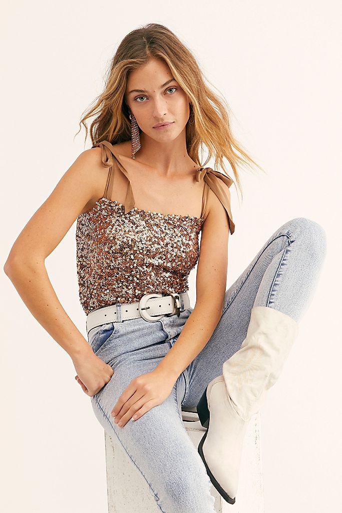 Free People Sequin Cami Top