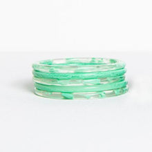 Load image into Gallery viewer, Ink & Alloy Marbled Acetate Bangle Set