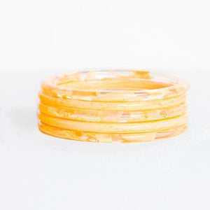 Ink & Alloy Marbled Acetate Bangle Set
