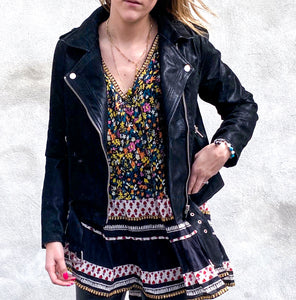 Sugarlips Have Mercy Suede Moto Jacket