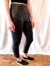 Load image into Gallery viewer, Free People Leather Moto Skinny Pant