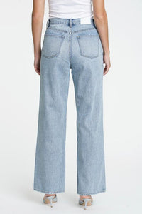 Pistola Denim Bobbie High Rise Wide Leg Crossover Jean