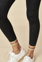 Load image into Gallery viewer, Sugarlips Black Camo Leggings w/ Stripe Ankle