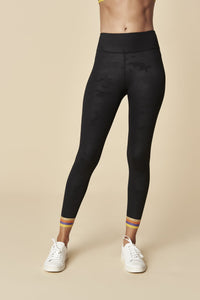 Sugarlips Black Camo Leggings w/ Stripe Ankle