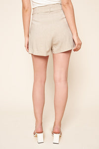 Sugarlips St Tropez Linen High Waisted Shorts