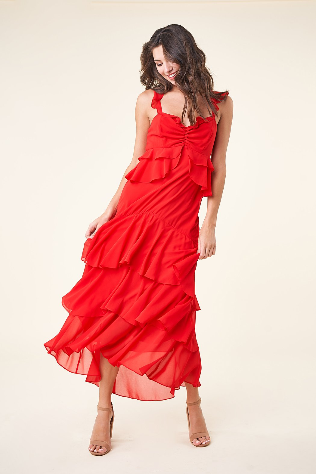 Sugarlips Layland Ruffle Maxi Dress