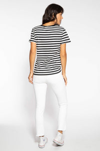 Suburban Riot Striped Loose Heart Tee