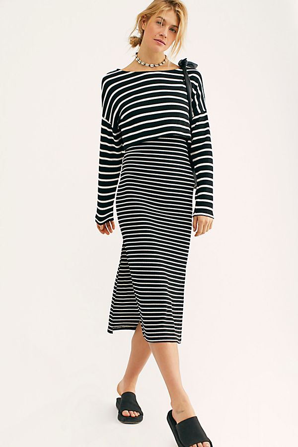 Free People Striped Set