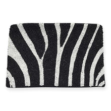 Load image into Gallery viewer, Ink & Alloy Zebra Seed Bead Clutch