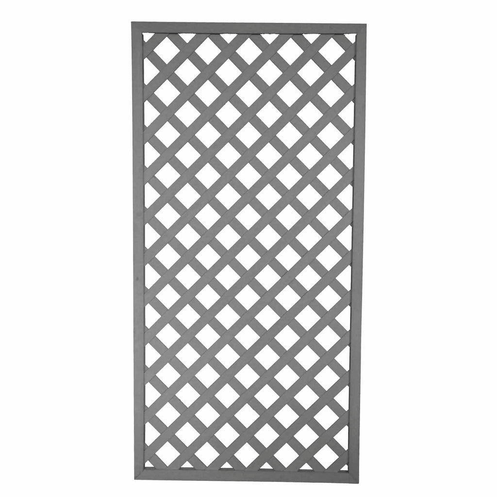 1800 x 900mm Composite Framed Trellis Panel Weathered Grey