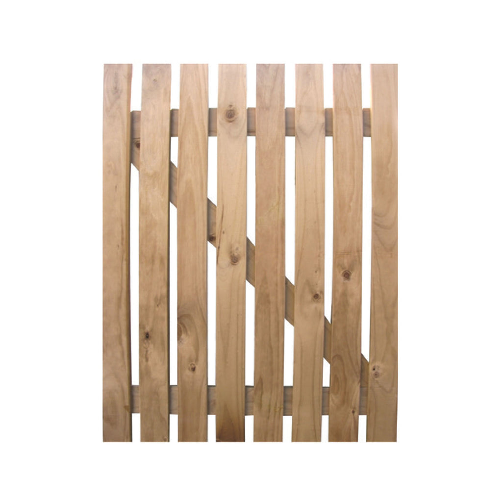 Square top wooden gate