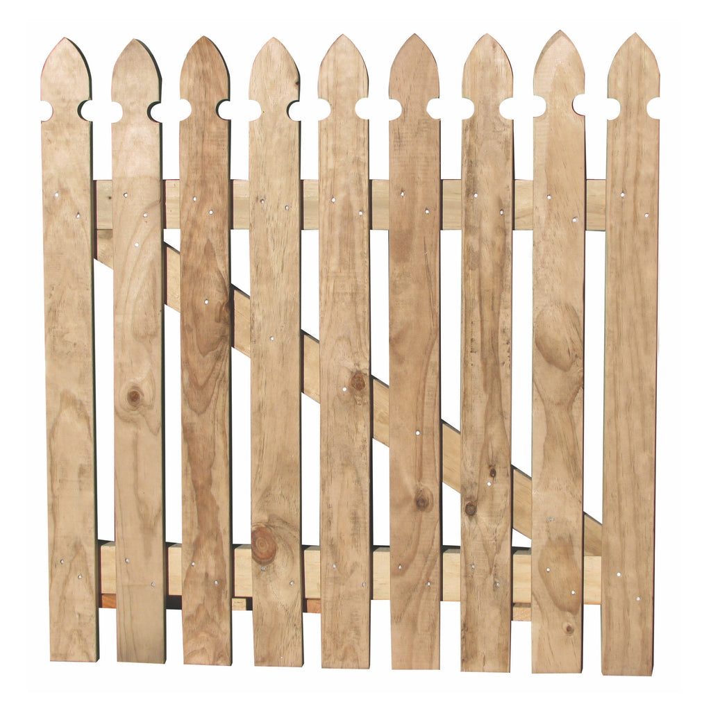 Gothic picket gate
