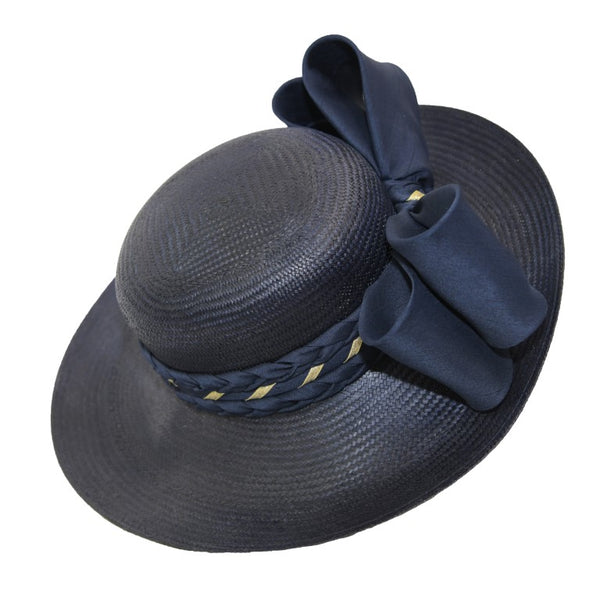 Navy blue broadbrim sunhat